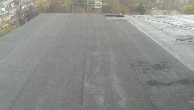 Ремонт крыши кровли гаража балкона мягкой еврорубероидом