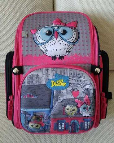 Яркий ортопедический рюкзак DeLune для девочки, 1-2 класс