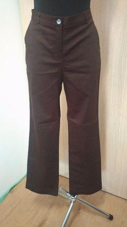 A03 Spodnie damskie brązowe 38 mia linea