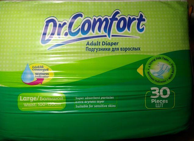 Подгузники Dr.Comfort для взрослых L 100-150 см 30 шт.