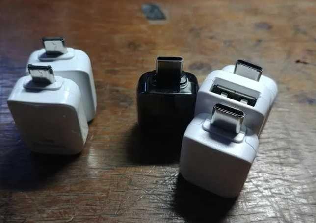 Przejściówki USB TYP B i C