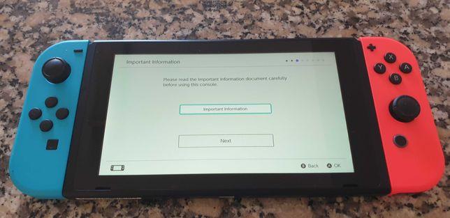 Nitendo Switch com dois Jogos Incluídos (Pouco Uso)