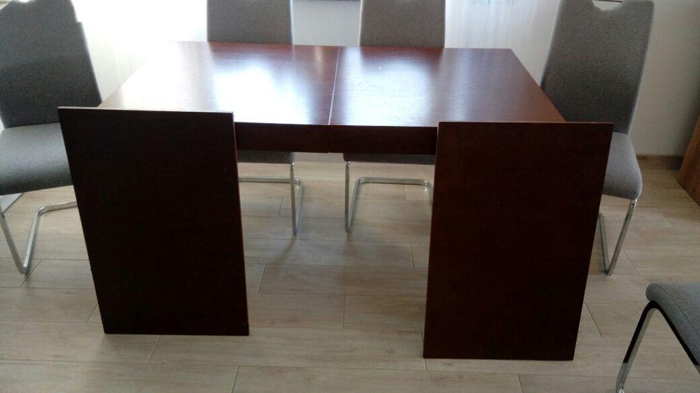 Stół drewniany rozkladany 140(240)*80 + 6 krzeseł Grodków - image 1