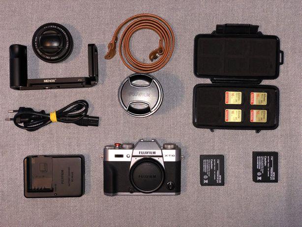 Aparat Fuji XT-10 + Obiektyw 27mm + Obiektyw 18-55mm + Dodatki