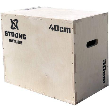 Skrzynia plyometryczna drewniana STRONG NATURE 30x40x50 Producent FV