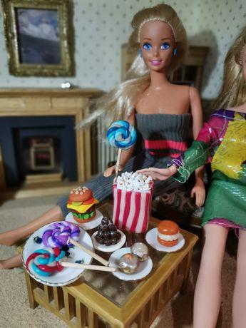 Popcorn, Barbie, akcesoria dla lalek, lizaki, pączki, hamburger