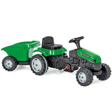 Traktor MAX na pedały z przyczepą zielony