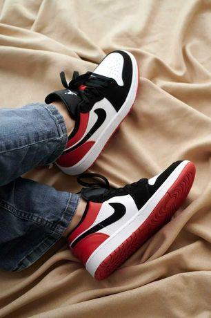Кроссовки Женские Nike Air Jordan Red/Black/Force 1/LUX 1в1 Оригинал