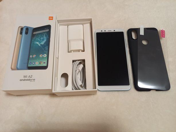 Xiaomi Mi A2 blue dual sim szkło etui ładowarka słuchawki