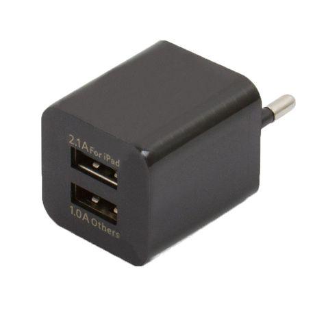 Зарядка на 2 USB, 5V 2А, блок питания кубик