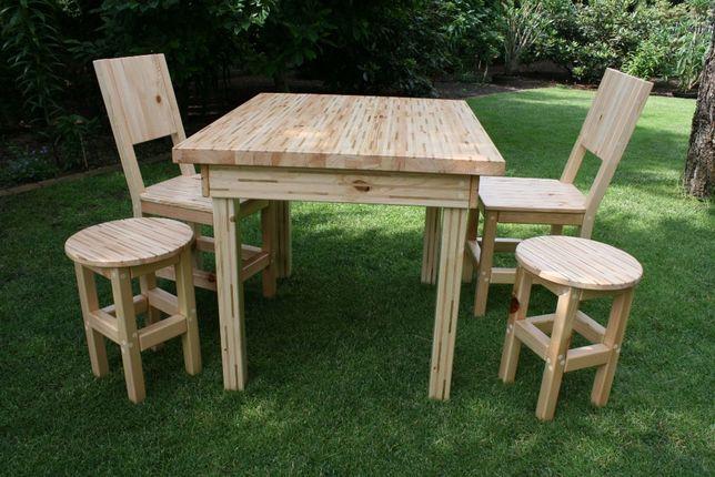 Drewniane solidne meble ogrodowe własnej roboty na zamówienie