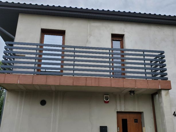 balustrada balkownowa ze stali nierdzewnej