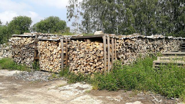 Drewno kominkowe, suche, buk, jesion, dąb, grab, brzoza, olcha, itp.