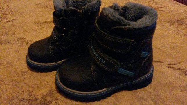 Зимние кожан.ботиночки 21р