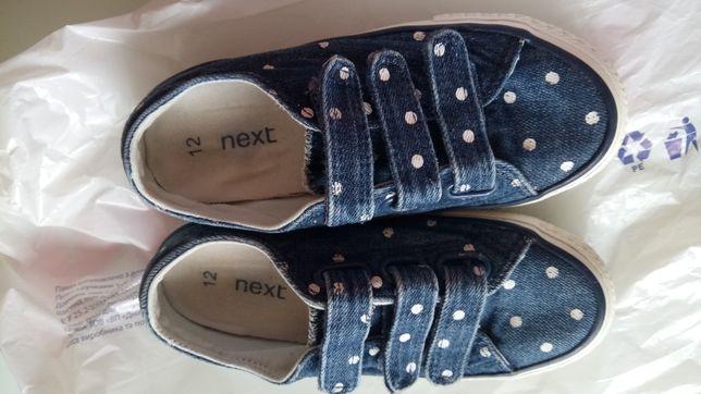 Кроссовки джинсовые Некст, состояние отличное, 32 размер