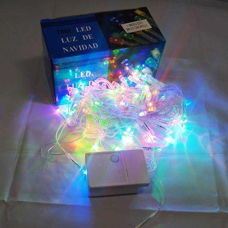 Светодиодная гирлянда led luz 100 LED 7 метров