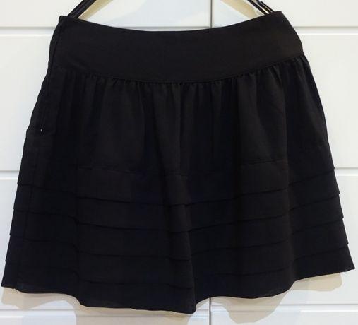 Czarna spódnica z żorżety r S