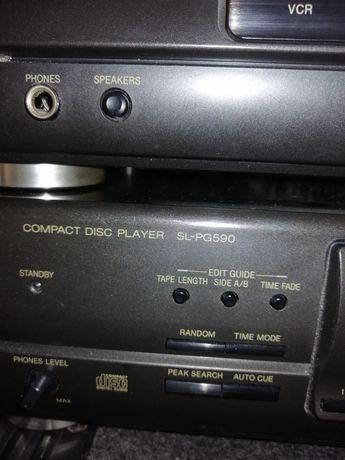 Sprzedam Amplituner Technics Odtwarzacz CD, 2 Kolumny LDM