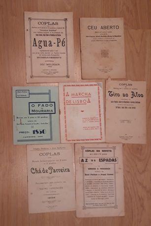 Libretos antigos de revistas e operetas portuguesas