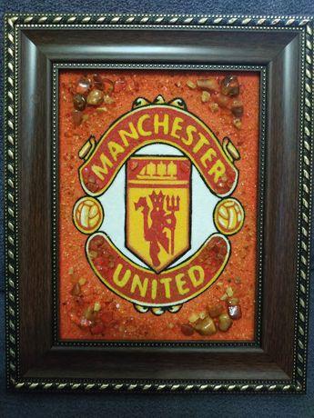 Эмблема Манчестер Юнайтед(с янтаря)