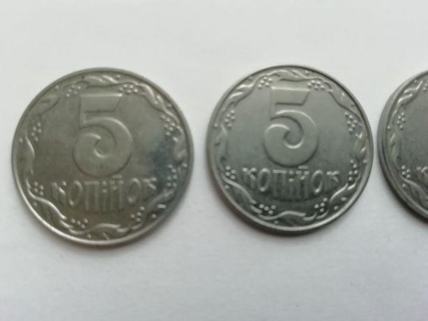 Продам монеты 5коп.1992г.