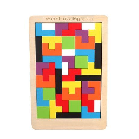 Puzzle drewniane tetris
