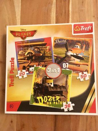 Puzzle Samoloty - 3 plansze. Super stan
