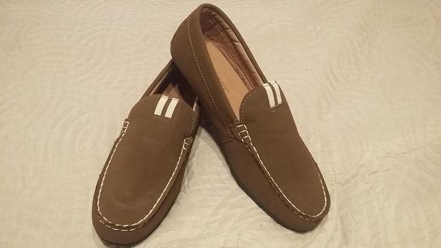 Mokasyny męskie, buty na jesień / wiosnę rozmiar 42 brązowe NOWE