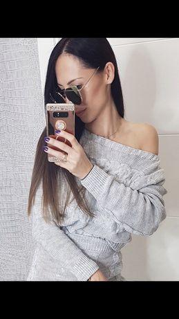 Komplet spódnica sweter sweterkowy XS S M