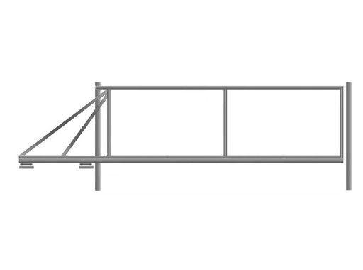 Brama przesuwna ramka stelaż przesuwna do wypełnienia każdy wymiar