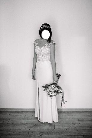 Sprzedam suknię ślubną GALA- AURA, w rozmiarze 34/36 w kolorze ecru