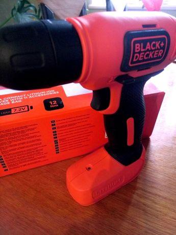 Новий Англійський шуроповерт BLACK DACKER в наборі з інструментом
