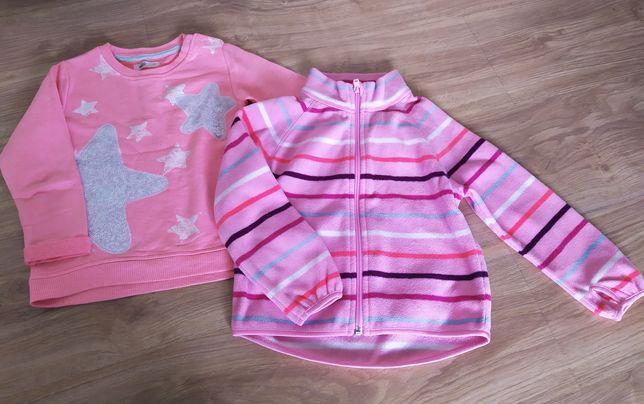 Zestaw 2szt. bluza + bluza rozpinana polar rozmiar 92