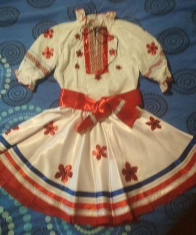Раздельный костюм 122 - 134 размер, украинский стиль, вышиванка