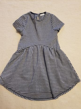 Ciepła sukienka w kratę 116
