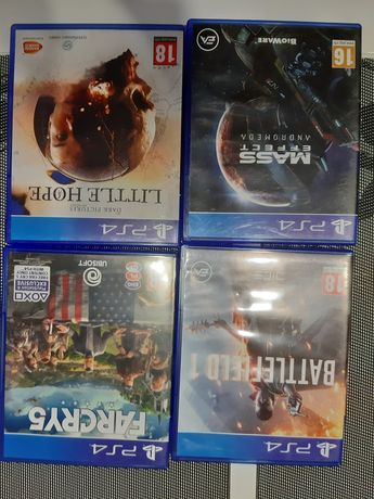 Gry PS4 Far Cry 5, Battlefield 1 , Mass Effect Andromeda , Little Hope