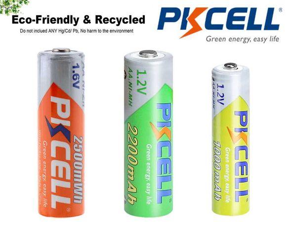 Пальчиковые аккумуляторы PKCELL Ni-Mh Ni-Zn  ААА 1,2V АА 1,2V AA 1,6V