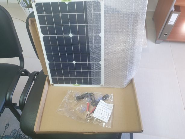 Painel solar Novo de 100w mono, flexivel com acessórios