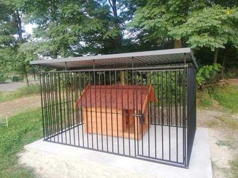 Kojec dla psa z , Box dla psa , schowek , wiata na śmieci