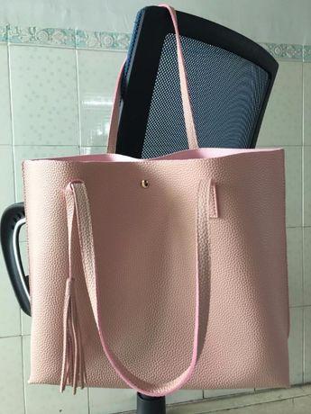 -50% WYPRZEDAŻ SZAFY torebka torba brudny róż pudrowa A4