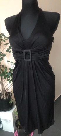Sukienka MANGO SUIT czarna sexy bez plecow rozm M