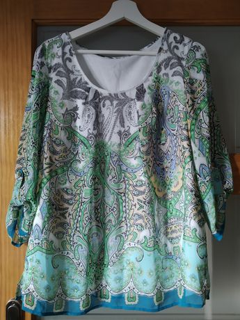 Piękna koszulka bluzka w wzorki XL