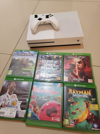 Xbox One S 1TB pad +6 gier