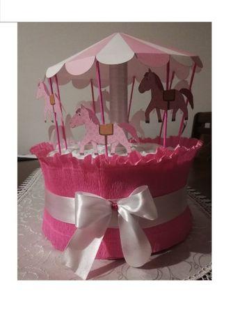 torty z pampersów na urodziny, chrzest, prezent