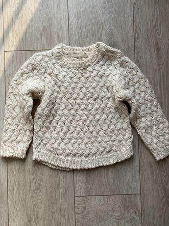 Sweter kremowy Zara rozmiar 2-3 lata 98 cm