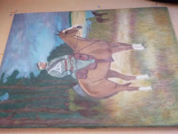 Obraz olejny Pilsudski na koniu
