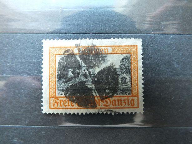 Znaczki Fi206 korkowy WMG 1925r.Danzig Wolne Miasto Gdańsk Niemcy /nr5