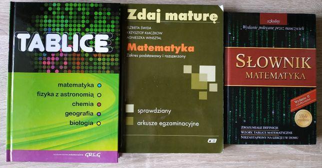 Zestaw 6 książek pomocy naukowych matematyka matura