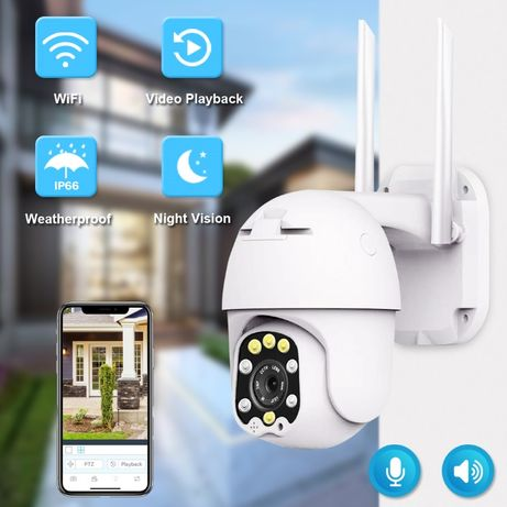 Câmera Vigilancia 3MP 360º 5X ZOOM Prova de Água WIFI APP Inteligente