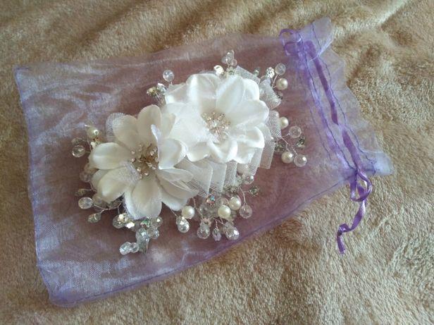 Свадебное украшение (заколка)для волос плюс Подарок